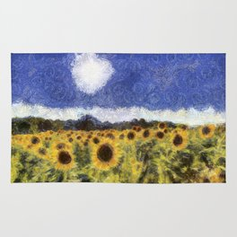 Sunflower Summers Van Gogh Rug