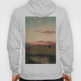 The Marshes At Rhode Island 1866 By Martin Johnson Heade | Reproduction Hoody