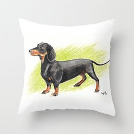 Dachshund (includes rescue donation!) Throw Pillow