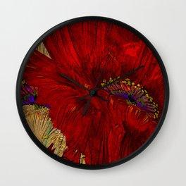 Poppy Passion Wall Clock