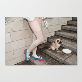 I've been brought up to always act like a lady Canvas Print