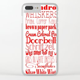A Few of My Favorite Things - Red Clear iPhone Case