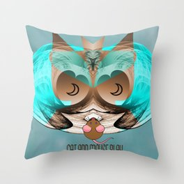 CAt and Mouse Play 2 Throw Pillow