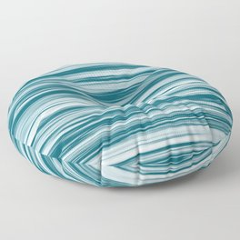 Tropical Dark Teal Inspired by Sherwin Williams 2020 Trending Color Oceanside SW6496 Soft Focus Motion Blue Water Color Blend Floor Pillow