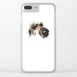 Dogface Golden Doodle Clear iPhone Case