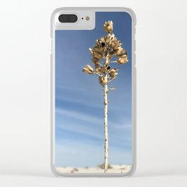 White Sands Flower 2 Clear iPhone Case