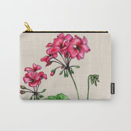 Botanical illustration of Geranium Carry-All Pouch