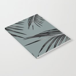Black Palm Leaves Dream #4 #tropical #decor #art #society6 Notebook