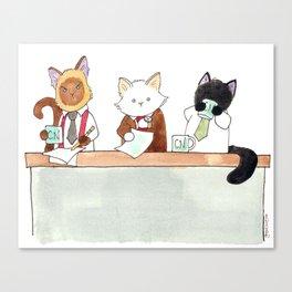 Morning news desk Canvas Print