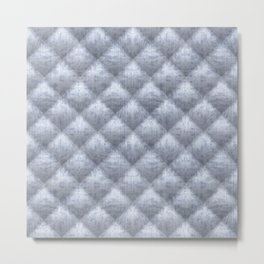 Quilted Soft Blue Velvety Pattern Metal Print