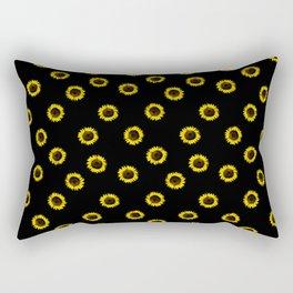 girassol black Rectangular Pillow