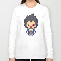 vegeta Long Sleeve T-shirts featuring FunSized Vegeta by Papyroo