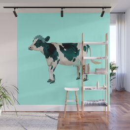 Pretty cow with high heels Wall Mural