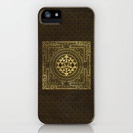 Gold Sri Yantra  / Sri Chakra iPhone Case