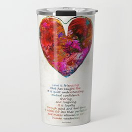 Red Heart Art - Love Is - By Sharon Cummings Travel Mug