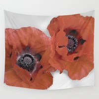 poppies Wall Tapestries featuring Poppies by Elliott's Location Photography