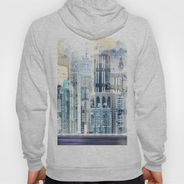 Blue City Scape Hoody