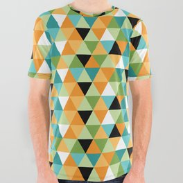 Scandy Triangles All Over Graphic Tee