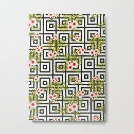 Geometric Jungle #society6 #decor #buyart Metal Print
