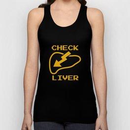 Check Liver Unisex Tank Top