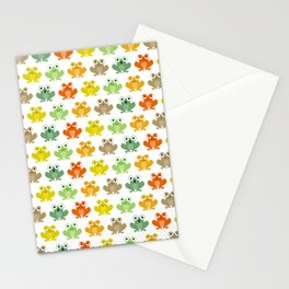 Cute little frogs Stationery Cards