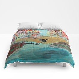 Autumn Duck Pond Comforters