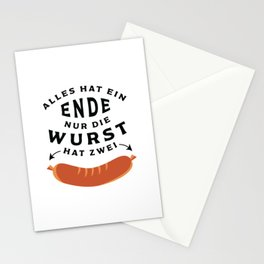 German Sausage Oktoberfest Stationery Cards