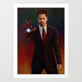 Tony Stark Art Print