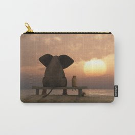 Elephant and Dog Friends Carry-All Pouch