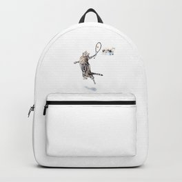 Cat Playing Tennis Backpack