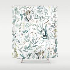Eucalyptus pattern Shower Curtain
