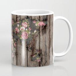 Wood Flowers Mapamundi Coffee Mug