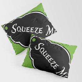 """Squeeze Me"" Alice in Wonderland styled Bottle Tag Design in 'Garden Green' Pillow Sham"
