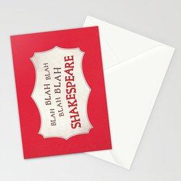 Blah Blah Blah Shakespeare Stationery Cards