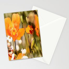 Orange Poppies Stationery Cards