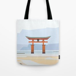 Floating torii, Itsukushina Shrine, Japan Tote Bag