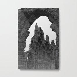 Whitby Abbey Arches Metal Print