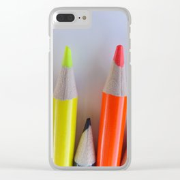 Colored Pencil Tips Clear iPhone Case