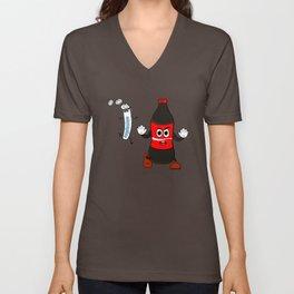Coke and Mentos  Unisex V-Neck