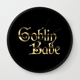 Labyrinth Goblin Babe (black bg) Wall Clock