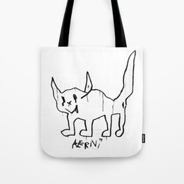 Demon Cat Tote Bag