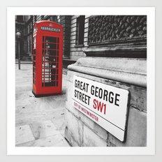Great George Street (v.2 : square) Art Print
