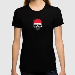 Flag of Iraq on a Chaotic Splatter Skull T-shirt