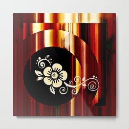 Floral Accent Metal Print