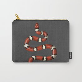 Kundalini red snake slithers on charcoal Carry-All Pouch