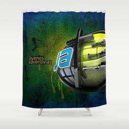 JA street art Shower Curtain