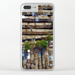 Slum aerial view Clear iPhone Case