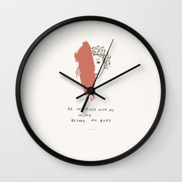 To Be Known Wall Clock