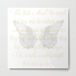 The First Noel angel wings Metal Print