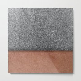 concrete and leather  Metal Print